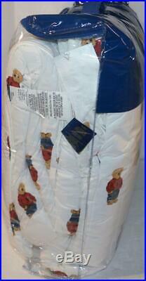 RALPH LAUREN Polo Teddy Bear Red Sweatshirt Boy 2P TWIN COMFORTER SET NEW