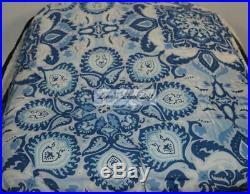 RALPH LAUREN Porcelain Blue Medallion QUEEN COMFORTER SHAMS BEDSKIRT 4P SET NEW