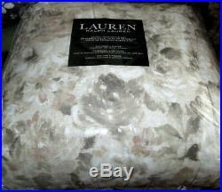 RALPH LAUREN Queen Comforter Set 4PC FLORAL