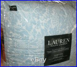 RALPH LAUREN Queen Comforter Set VICTORIAN FLORAL Blue