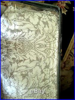 RALPH LAUREN Queen Comforter Set VICTORIAN MEDALLION cream gray taupe