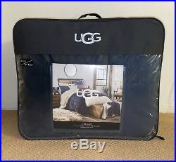 RARE Ugg HUDSON Reversible Sherpa 3PC Full/ Queen Comforter & Shams Set NEW