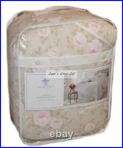 Rachel Ashwell Simply Shabby Chic Duchess Pink Floral Full/ Queen Comforter Set