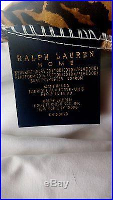 Ralph Lauren Aragon Leopard Full/Queen Comforter Set Skirt 2 Shams Pillowcases