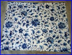 Ralph Lauren BLUE FLORAL 3-piece Full Queen Comforter + Sham Set