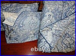Ralph Lauren Chaps Brentwood Blue Paisley Sateen (3pc) Queen Comforter Set