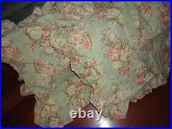 Ralph Lauren Charlotte Green Brown Floral (4pc) Queen Comforter Set