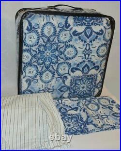 Ralph Lauren Fabric Queen Comforter Shams Set Porcelain Blue Medallion Bedskirt