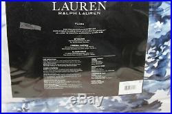 Ralph Lauren Home Flora FULL/QUEEN 3 -PCs Comforter Set Blue Floral Cotton $385