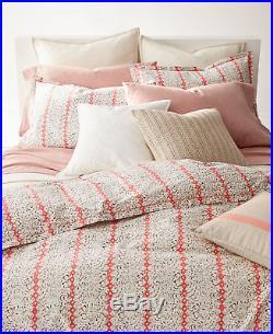 Ralph Lauren Home Yasmine FLORAL/STRIPE 3-PC Full/Queen Comforter Set Coral $255