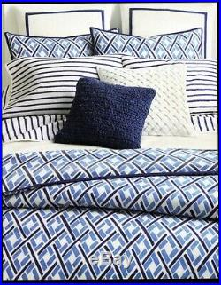 Ralph Lauren Jensen Stripe Full/Queen Comforter Set withsheets 7pc French Cottage