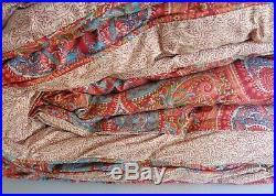 Ralph Lauren Paisley Coral Orange Red Teal Full Queen Comforter Shams 3 pc SET