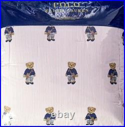 Ralph Lauren Polo GIRL Teddy Bear QUEEN Comforter SET NEW STYLE Striped
