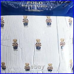 Ralph Lauren Polo Girl Queen/Full Teddy Bear BOY Comforter New Set