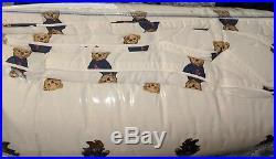 Ralph Lauren Polo Teddy Bear King Comforter SET Girl NWT with 2 King Sham's