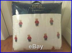 Ralph Lauren Polo Teddy Bear Queen Comforter SET BOY NWT with 2 Standard Shams