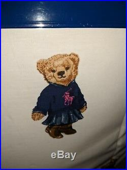 Ralph Lauren Polo Teddy Bear Queen Comforter SET Girl NWT with 2 Standard Sham's