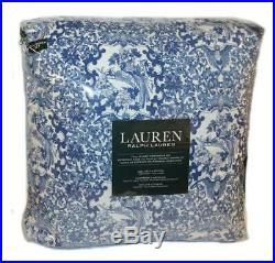 Ralph Lauren Porcelain Blue Tamarind Birds 3P Full Queen Comforter Set White