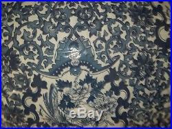 Ralph Lauren Porcelain Blue Tamarind Birds Asian Queen Comforter & Shams Set