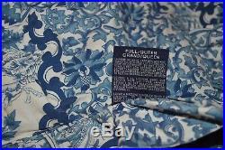 Ralph Lauren Porcelain Blue Tamarind Full Queen Comforter & 2 Standard Sham Set