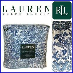 Ralph Lauren QUEEN Porcelain Blue Tamarind COMFORTER 3PC Set BIRDS Oriental