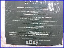 Ralph Lauren Queen Comforter Set Bedskirt Shams Cotton 4PCS Floral Roses Cream