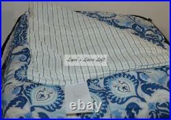 Ralph Lauren Queen Set Shams Porcelain Blue Comforter Bedskirt New