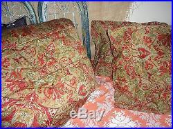 Ralph Lauren Randolph Red 3pc Full Queen Comforter Set Red Olive Green Paisley