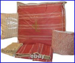 Ralph Lauren SAN LUCA Red 6P FULL/ QUEEN Comforter Set New RARE