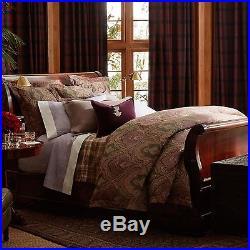 Ralph Lauren Westport QUEEN 3-pc Comforter & Pillow Shams Paisley Purple Set NWT