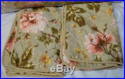 Ralph Lauren YORKSHIRE ROSE FLORAL GREEN 3P Queen Comforter Set NEW