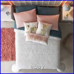 Rhombuses Teens Girls Reversible Comforter Set 6 Pcs Queen Size 100% Cotton