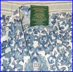 SET 3 Ralph Lauren Tamarind Queen Full Comforter 2 Shams Porcelain Chinoiserie