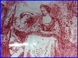 Sherry Kline Elizabethan Queen 4 Pc Comforter Shams Bedskirt Set Red Stunning