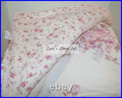 SIMPLY SHABBY CHIC Pink Blush Floral 3PC FULL/ QUEEN COMFORTER SET NEW