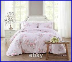 Shabby Chic Misty Rose Comforter set Rachel Ashwell Double/Queen