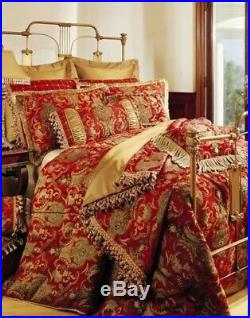 Sherry Kline Queen china art red size 6 piece comforter set, NEW