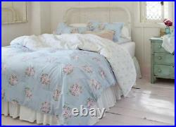 Simply Shabby Chic BELLA BLUE Pink Rose SPRINKLES Comforter Set FULL/QUEEN