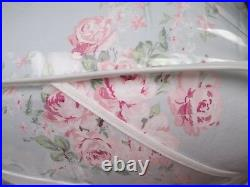 Simply Shabby Chic BELLA Blue Rose Sprinkles Floral Comforter Set Full/Queen