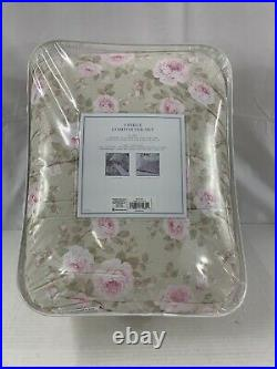 Simply Shabby Chic Queen Full Comforter Set Dutchess Blossom Rachel Ashwell NEW