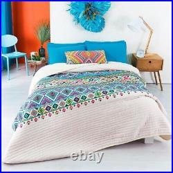 Southwest Navajo Print Reversible Comforter Set 4pcs Full/queen 100% Microfiber