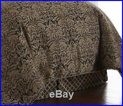 Sterling Creek 9-Piece Black Gold Jacquard Floral Oversized Comforter Set, King