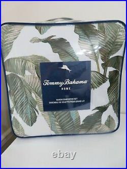 Tommy Bahama Home 3 Piece Comforter Set W Shams New Palm Fiesta Palms New