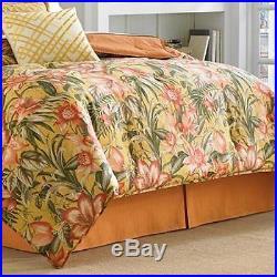 Tommy Bahama TROPICAL LILY 4 pc QUEEN Comforter Set COASTAL Orange Mult Chic NIP