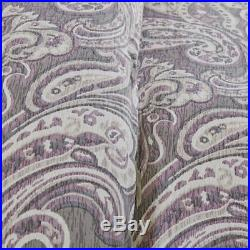 Transitional Paisley Purple Comforter 7-PC Set Cal King Queen King All Cotton