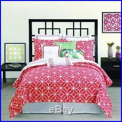 Trina Turk 3-Piece Trellis Comforter Set Queen Coral