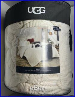 UGG Brea Reversible Full Queen 3 Piece Comforter Set in Snow