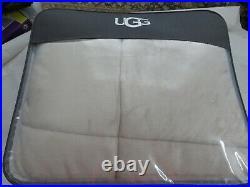 UGG Hudson Plush Reversible Sherba 3P Full Queen Comforter Set Tan Beige NIP