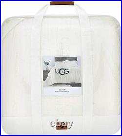 UGG Luxurious QUEEN Comforter Set Alondra SOFT Faux Fur 3 Piece Snow NEW