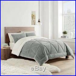 UGG Reversible 3-Piece Queen/Full Comforter Set in Grey